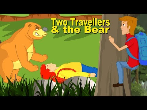 Two Travellers And A Bear | English Moral Stories For Children