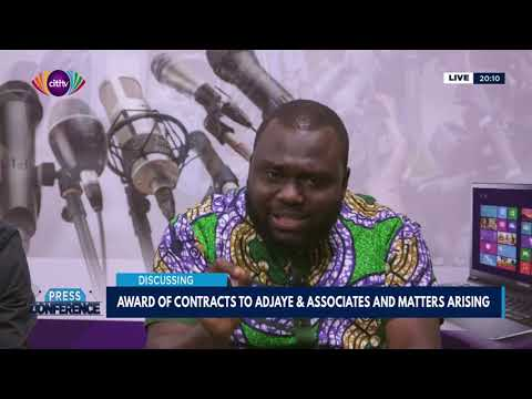 Contracts awarded to Adjaye and Associates and the matters arising - Press Conference