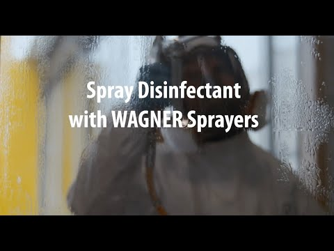 Wagner paint sprayers can be used to spray disinfectant Video