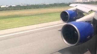 Взлет Боинг 747-300 (Трансаэро) Суварнабуми-Екатеринбург