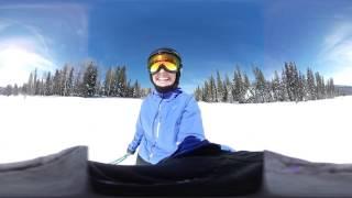 Skiing Down Tomahawk Run in Steamboat Springs Colorado 360