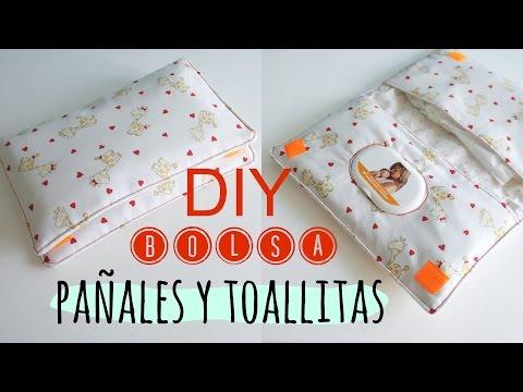 DIY. Bolsa para pañales y toallitas de bebe. Pinafili Films