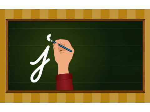 Cursive writing a to z - Kindergarten learning videos