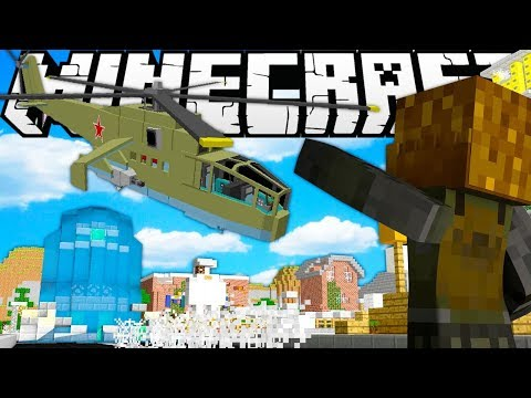 MINECRAFT OVERPOWERED WEAPONS MODED HUNGER GAMES - MINECRAFT MOD CHALLENGE