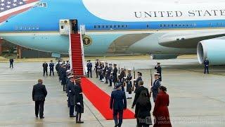 【さよならオバマ】大統領専用機でワシントンを離れるオバマ前大統領 2017/1/20