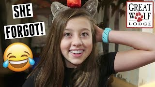 She forgot something! Gabrielle's 14th birthday party at Great Wolf Lodge waterpark! Family vlog
