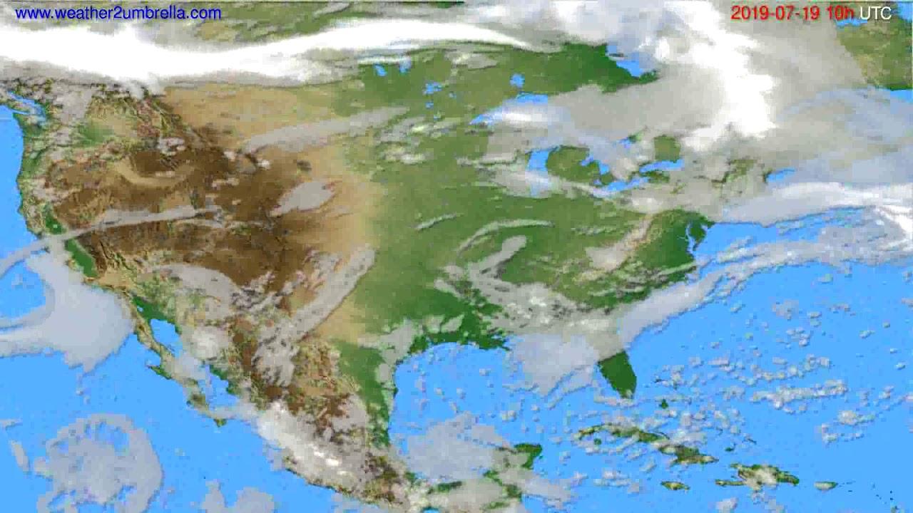 Cloud forecast USA & Canada // modelrun: 12h UTC 2019-07-16