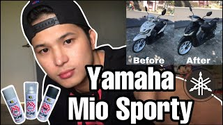 How To Repaint | Fairings | Matte Black | Yamaha Mio Sporty | Bosny | Tagalog