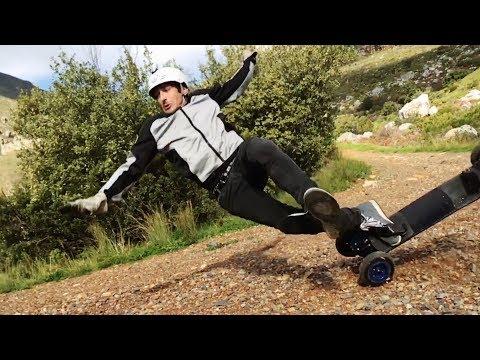 Skateboarder Tries Mountainboarding