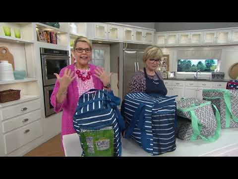 California Innovations Set of 2 Insulated Cart Totes on QVC