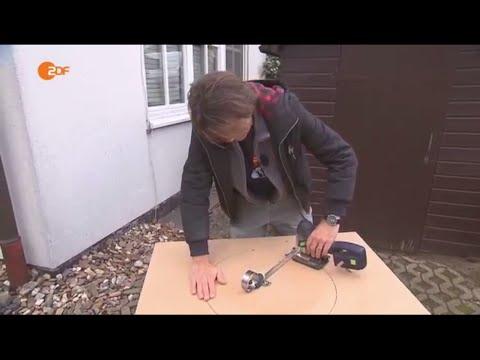 Wie sägt man einen Kreis? - Heimwerkertipps - Volle Kanne | ZDF