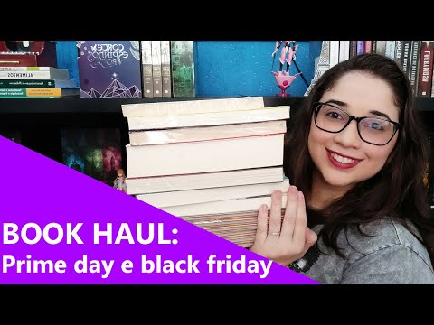 BOOK HAUL: Prime day e black friday 📚� | Biblioteca da Rô