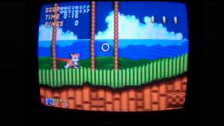 Accessing the Level Select, Super Sonic, and Debug Mode cheats in Sonic 2