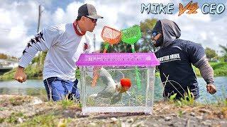 Netting EXOTIC FISH for Aquarium - Fishing Challenge!