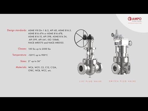 AMPO POYAM VALVES Lift plug and switch plug valves