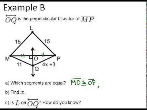 Printables Perpendicular Bisector Worksheet perpendicular bisectors read geometry ck 12 foundation archaeology problem revisited