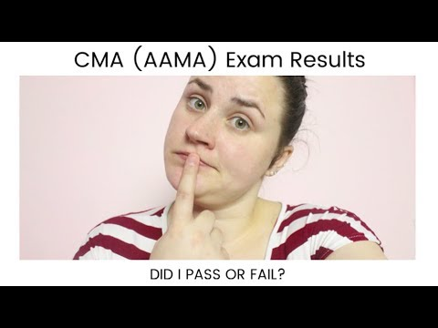 CMA AAMA EXAM RESULTS… DID I PASS? | Allie Young - YouTube