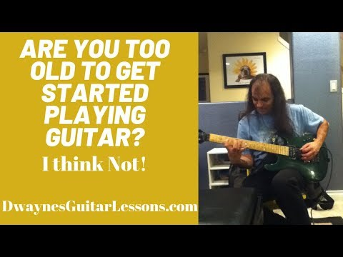 Are you too old to learn guitar?  If you think so, find out here.  You might be surprised at the answer.