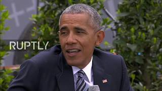 LIVE: Obama joins Merkel to speak about democracy in Berlin