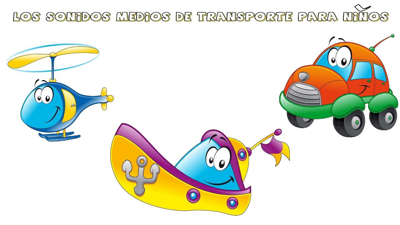 Aprendemos los sonidos de los medios de transporte para niños