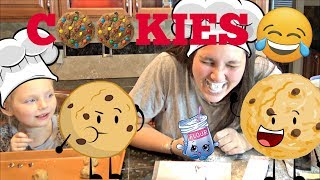 CHOCOLATE Chip COOKIE Baking PARTY! FLOUR & RAW EGGS. The TOYTASTIC Sisters.