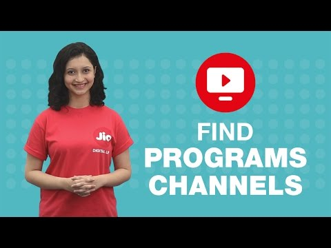 How to find programs or channels on JioTV?
