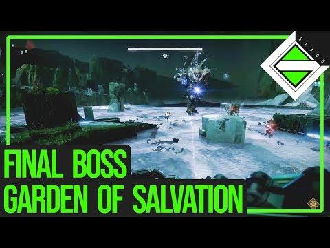 Garden of Salvation Final Boss Gameplay - Sanctified Mind, Sol Inherent | Destiny 2