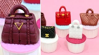 FASHION HANDBAGS CUPCAKES  *Cake Toppers By Cakes StepbyStep