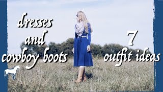 Cowboy Boots And Dresses Outfits