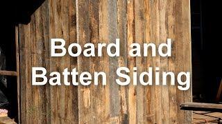 Old School Building Board and Batten Siding