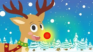 Rudolph The Red Nosed Reindeer 🦌 Children's Christmas Songs | Sing along