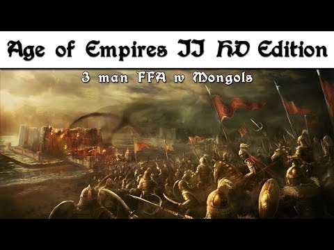 Age of Empires II HD Edition ➤ 3 Man FFA w Mongols Must Watch