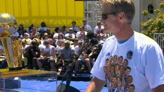 Warriors' Head Coach Steve Kerr Jokes To Fans During Speech - Video Youtube