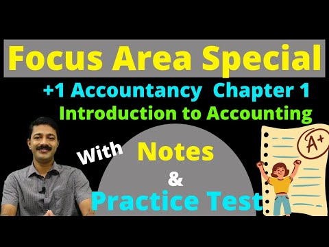 +1 Accountancy | Focus area Series 1 | Chapter 1 | Introduction to Accounting