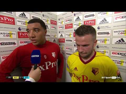 Troy Deeney roasts Hector Bellerin in post-match interview