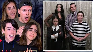 REACTING TO OUR ADDAMS FAMILY VIDEO!! (Emotional)