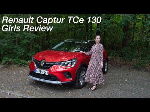 Larissa fährt den Renault Captur TCe 130 EDC / Girls Review [4K] - Autophorie
