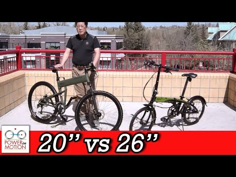 Comparison of 26″ vs 20″ inch Folding Bikes – Calgary | Tern | Montague | Dahon | Brompton | Alberta