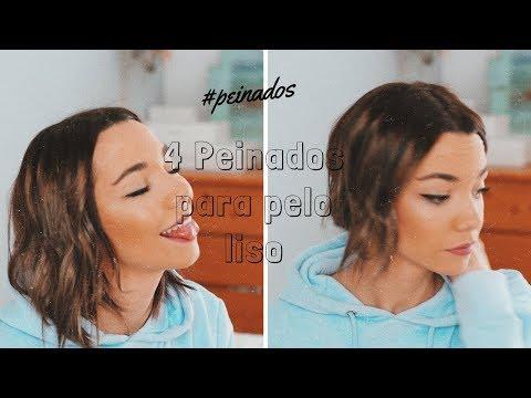 4 PEINADOS para pelo LISO || En colaboración con Llanos Blanco|| Meanwhile