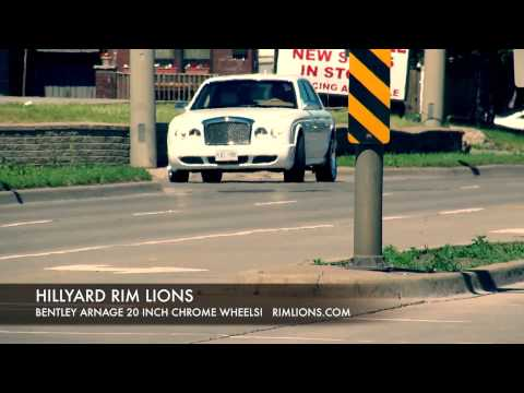 HILLYARD RIM LIONS BENTLEY ARNAGE CUSTOM RIMS 22 INCH CUSTOM WHEELS