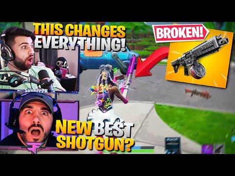 *NEW* DRUM SHOTGUN!! BEST SHOTGUN IN THE GAME! ft. Nickmercs & HD (Fortnite Battle Royale Gameplay)