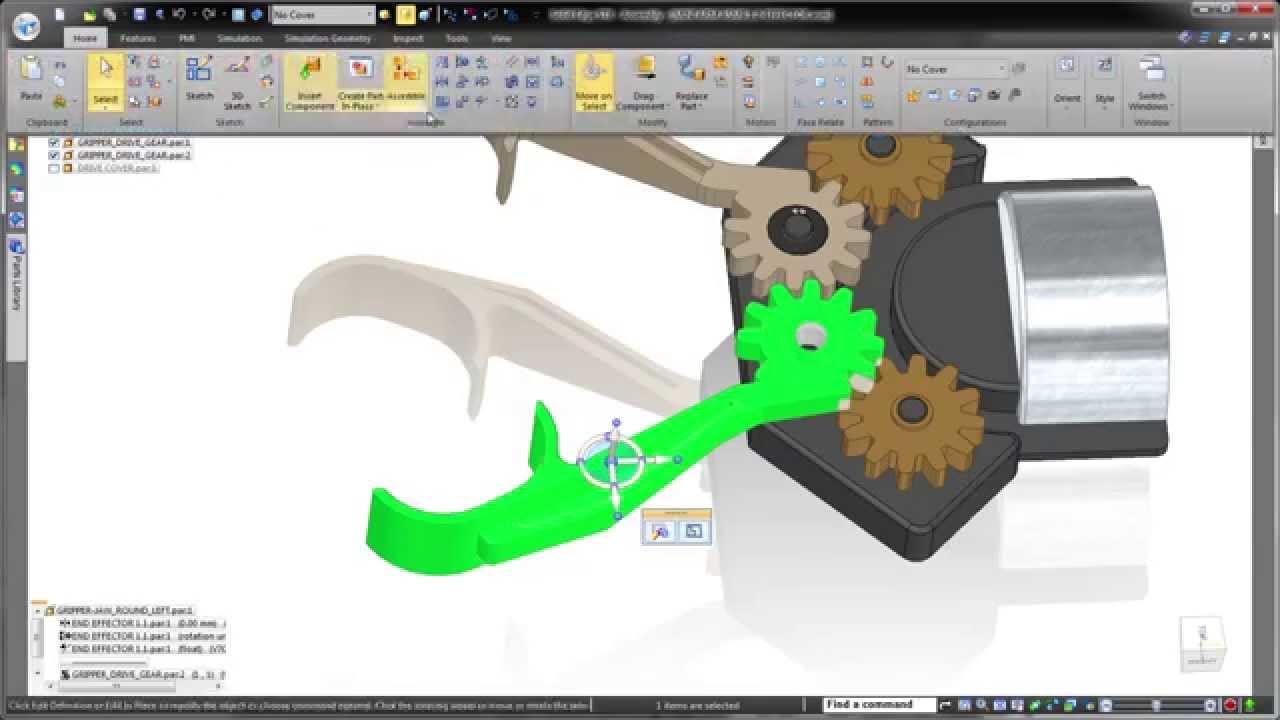 Vorschaubild: Solid Edge ST8: Erkennen von Mustern