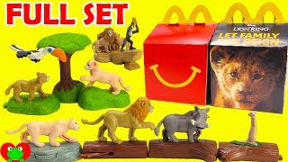 Opening 2019 The Lion King McDonald's Happy Meal Toys Full Set