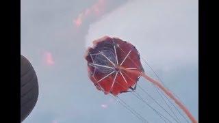Aerial Bucket Brigade Fights CA Wildfires