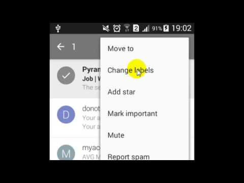 How to change the label of the mail in Gmail Android App