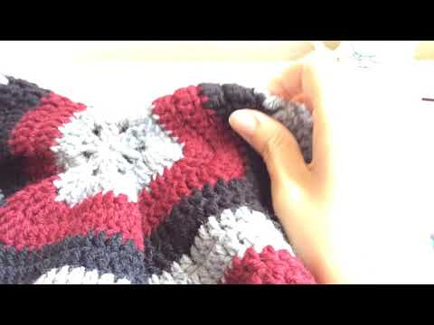 How to create a solid hexagon for the campfire cardigan