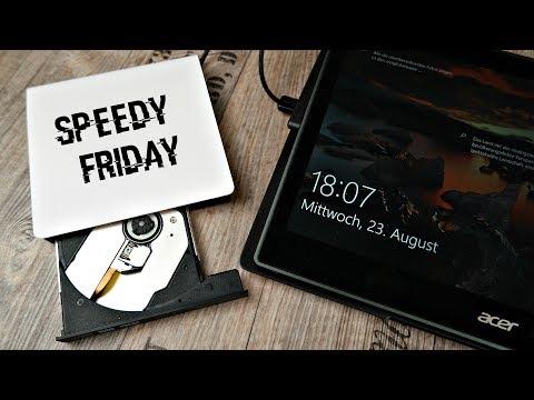 Kein CD Laufwerk im Laptop⁉ ➡ Externer USB 3.0 DVD Brenner | SPEEDY FRIDAY #1