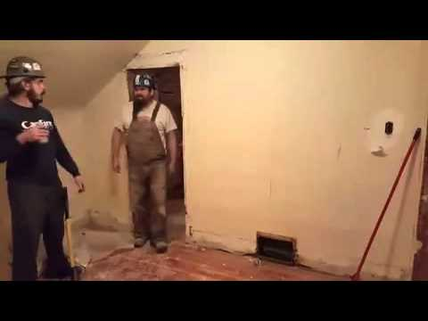 Construction worker destroys wall after boss catches him drinking on the job