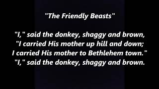 THE FRIENDLY BEASTS French Latin Christmas LYRICS WORDS BEST SING ALONG SONGS