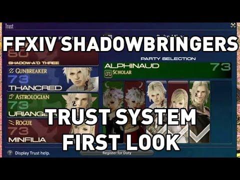 FFXIV: Shadowbringers Trust System FIRST LOOK